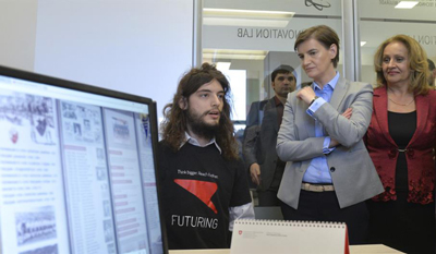 Futuring CEO Ivan Pantovic & Serbia Prime Minister Ana Brnabic
